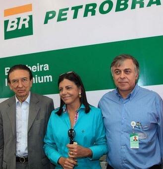 Lobão, Roseana e Paulo Roberto Costa, delator do esquema de corrupção.