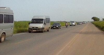 Imagem é diferente da de ontem, quando um grande congestionamento se formou na rodovia.. - Divulgação / PRF