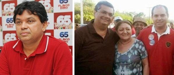 Jerry, Flávio Dino, a ex-prefeita e o filho José Leite.