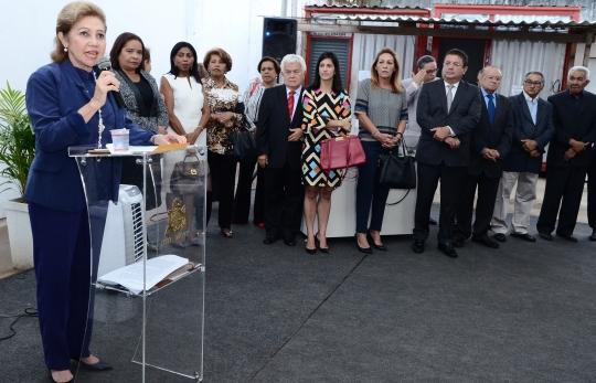 O lançamento aconteceu no canteiro de obras do prédio onde funcionará a sede própria da Casa da Criança (Foto: Ribamar Pinheiro)
