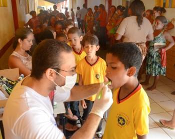 Foto_ilustração de ação realizada em escola do município pela Secretaria de Saúde