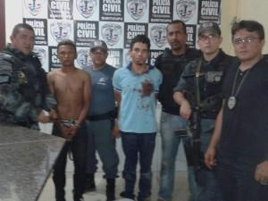 Erisvaldo Lima Araújo e Gilberto Jesus da Silva foram presos no final da tarde