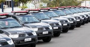 Foto ilustração_ Viaturas da polícia civil