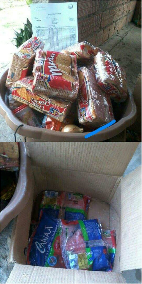 Escolas recebem apenas biscoitos e suco