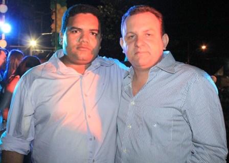 Antonio do Cesarino ao lado de Beto Rocha.