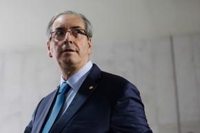O deputado, Eduardo Cunha (PMDB-RJ) nesta quinta-feira na Câmara (Foto: Andressa Anholete/AFP)