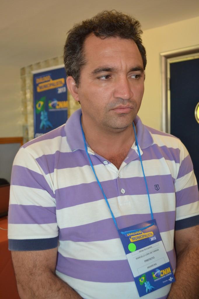 prefeito de Arame, Marcelo Lima de Farias.
