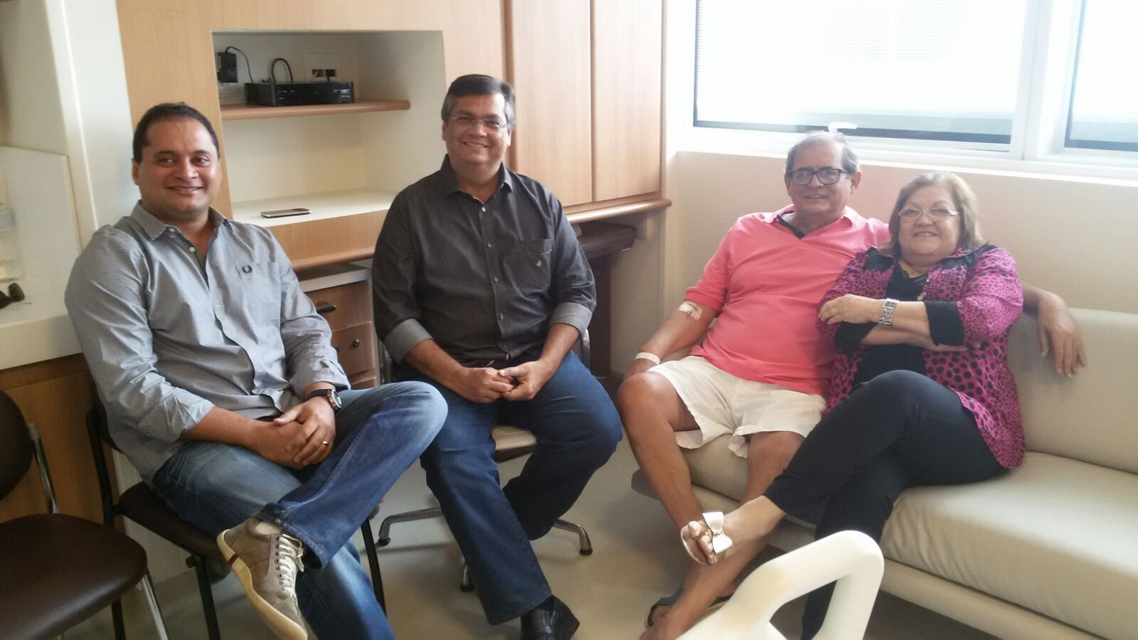 Weverton Rocha, governador Flávio Dino, Humberto Coutinho e sua esposa Cleide Coutinho.