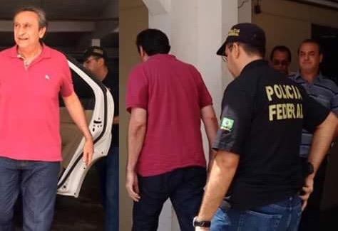Ricardo sendo encaminhado à sede da PF.