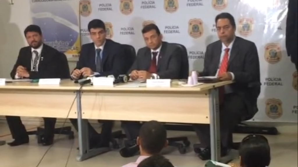 Superintendente da PF no Maranhão, delegado Jansen e representante do CGU