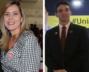Valéria Lauande e Thiago Diaz: uma disputa igualada.