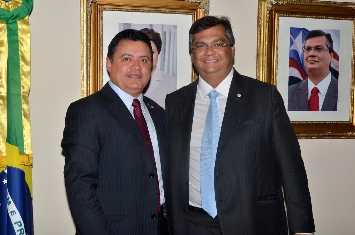 Deputado Rigo Telles e o governador Flávio Dino.