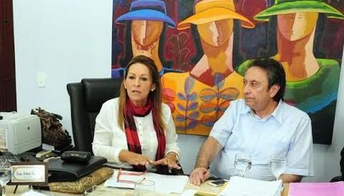 Desembargadora Nelma Sarney e Ricardo Jorge Murad.