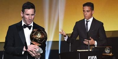 Lionel Messi e Wendell Lira