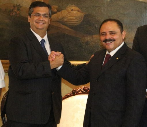Governador Flávio Dino juntamente com o deputado federal..