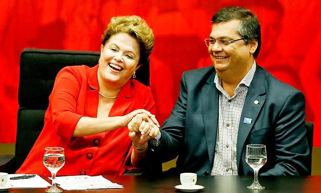 Dilma Rousseff e Flávio Dino.