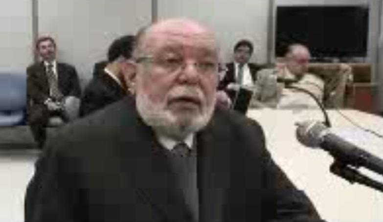 Léo Pinheiro em audiência na Justiça Federal no início de maio. Ele se calou em depoimento. Foto: Reprodução.