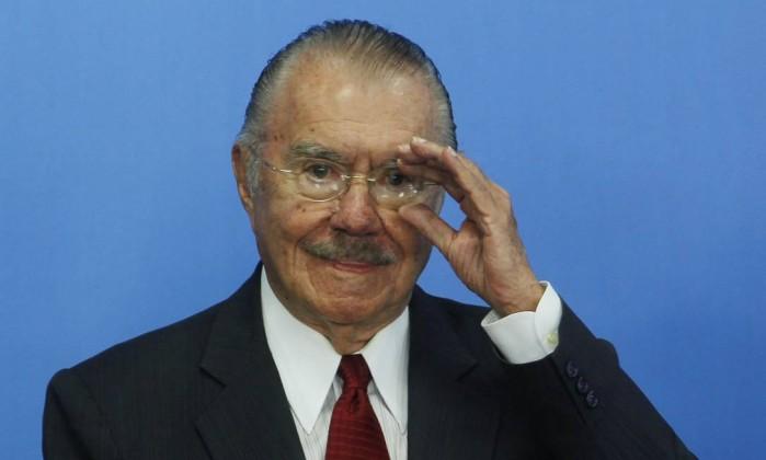 O ex-senador e ex-presidente da República, José Sarney - Givaldo Barbosa / Agência O Globo / 24-5-2016