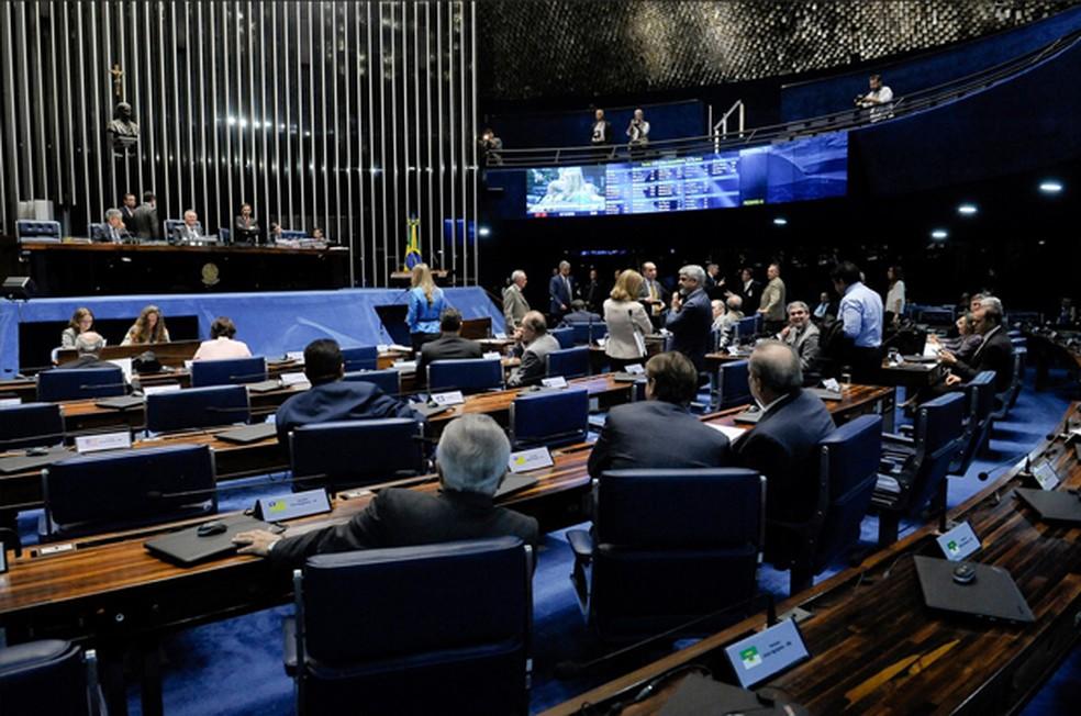 Plenário do Senado durante a sessão desta terça-feira (13) (Foto: Pedro frança/Agência Senado)