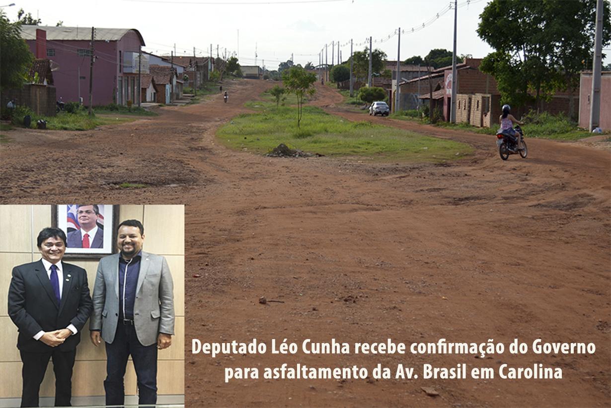 Avenida Brasil será asfaltada em Carolina OK