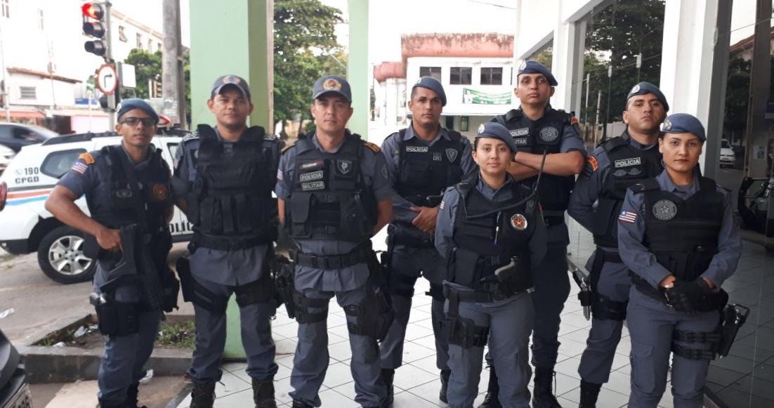 Policias militares que participaram da operação do dia 03, em uma casa de jogos que fica no Centro de São Luís.