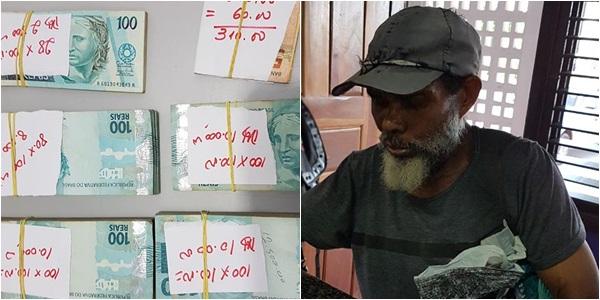 Resultado de imagem para Morador de rua é preso com mais de R$ 40 mil em São Luís