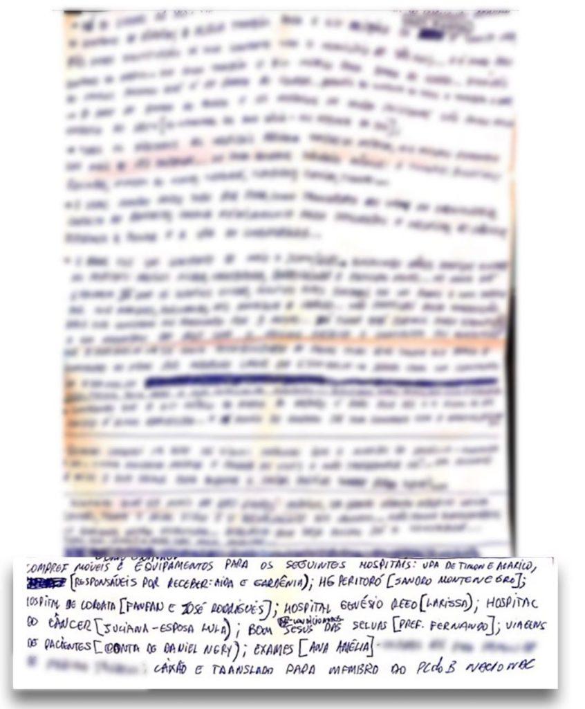 Carta sigilosa escrita à mão pelo médico Mariano de Castro.