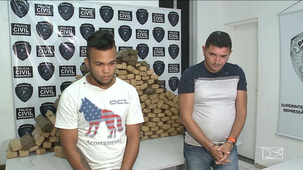 Policia apreende dupla de diambeiros com 180kg da erva em São Luis