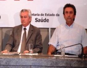 Arnaldo Melo ao lado de Ricardo Murad.