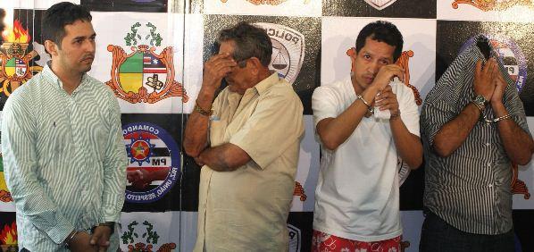 Os quadrilheiros acusados de tramar a morte do jornalista Décio Sá.