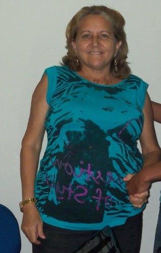 """A prefeita """"balaia"""" de Olinda Nova do Maranhão."""