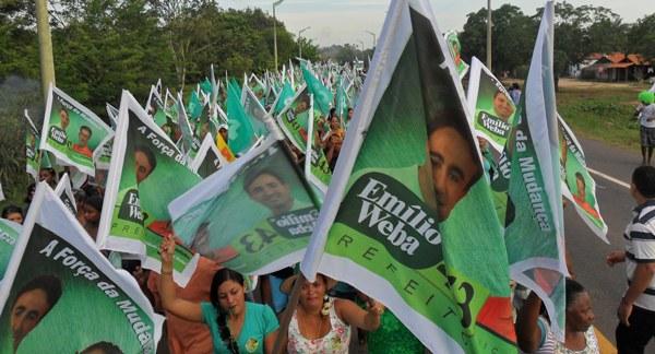 Emilio Weba arrasta multidão em Presidente Médici.
