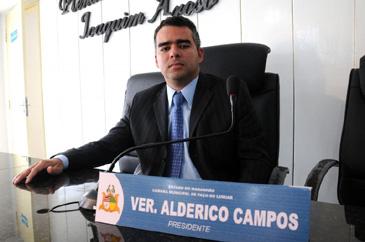 Vereador Alderico Campos.