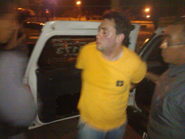 Magno Bacelar Júnior no momento da prisão