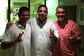 Gil Cutrim, Max Barros e Solynei Silva.
