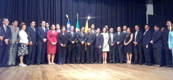Secretariado foi empossado em solenidade nesta quarta-feira (2) (Foto: Igor Almeida/G1)