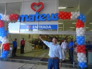 Ilson Mateus durante inauguração.