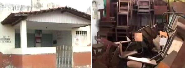 Escolas abandonadas em São Bento.
