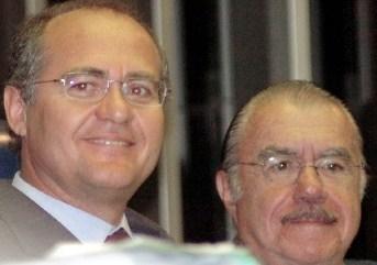 Renan é blindado por Sarney para assumir a Presidência do Senado.