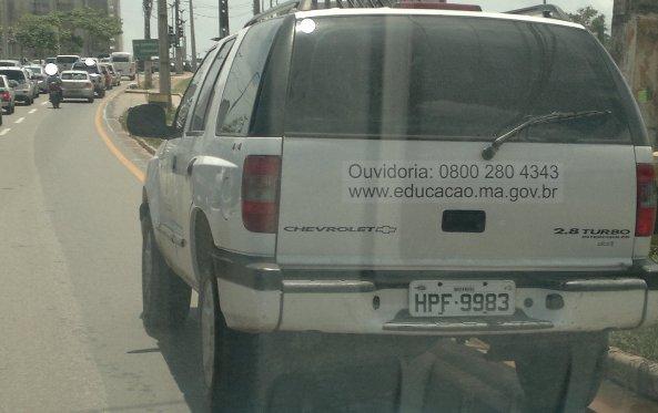 Um verdadeiro desrespeito ao Código de Trânsito