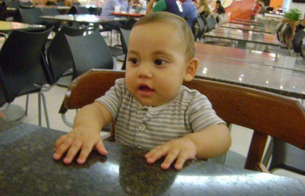 Heitor Mykael tem 9 meses.