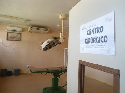 Centro cirúrgico sem estrutura