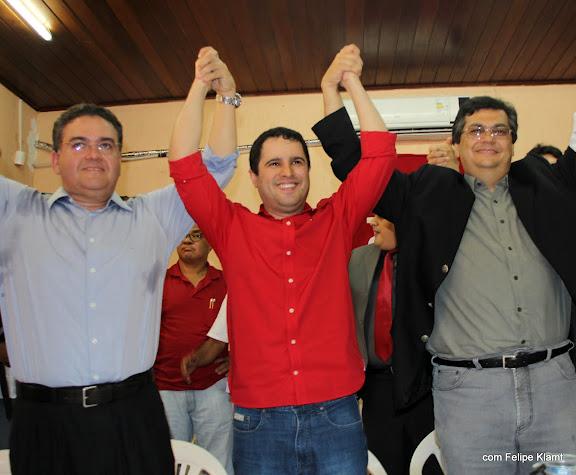 Edivaldo Holanda, Roberto Rocha e Flávio Dino