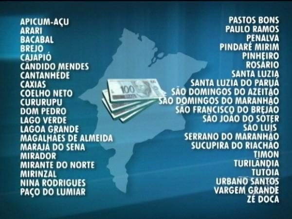Segundo investigações, 41 prefeituras que supostamente teriam participado do esquema de agiotagem (Foto: Reprodução/TV Mirante)