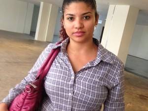 Estudante Adriana Arruda não pôde assistir às audiências (Foto: Clarissa Carramilo/G1)