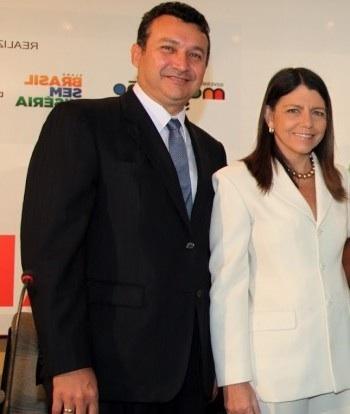 O moralista Fernando Fialho e a patroa Roseana Sarney.