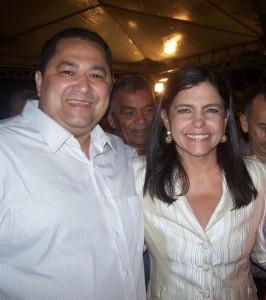 Prefeito 'Gordinho' ao lado da governadora Roseana Sarney. Foto: Reprodução