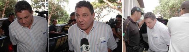 Momentos de Cleomar Tema sendo preso pela Polícia Federal na Operação Rapina
