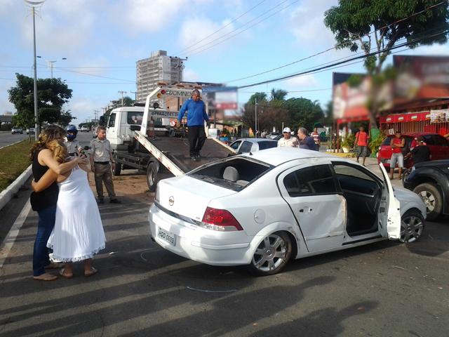 Acidente na Avenida Daniel de La Touche na manhã desta quinta-feira