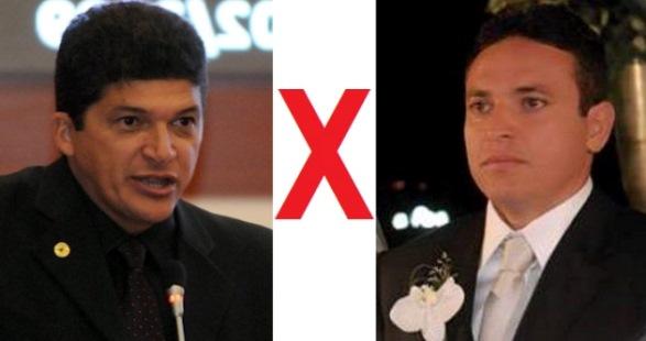 Deputado Marcos Caldas e Telmo Júnior: briga judicial esquenta o clima.